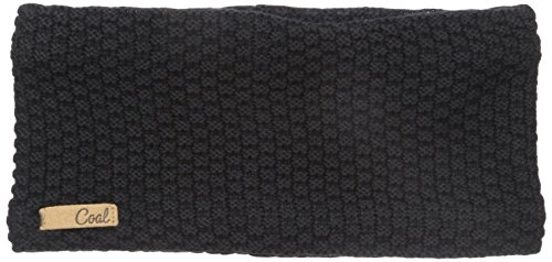 Coal Women's The Cameron Waffle Knit Headband, Black, One Size