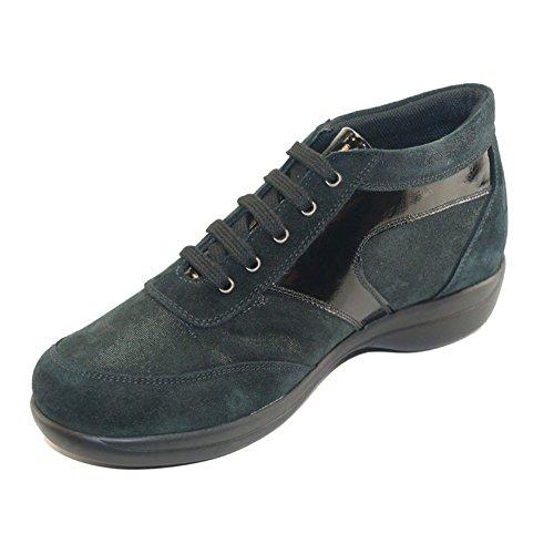 actualisation chaussure Chiffres H Noir Et Hergos Noir Cuir Élégant Confortable 9100 Daim Derniers zqZ6wU
