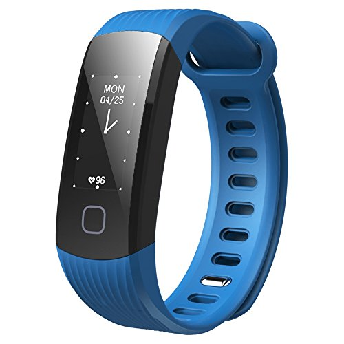 GoZheec Makibes HR1 Bluetooth Smart Bracelet Fitness Activity Tracker Continuous Heart Rate Monitor 0.96
