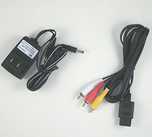 Video Game Accessories Super NES SNES Hookup Connection Kit AC Adapter Power Cord AV Cable ()