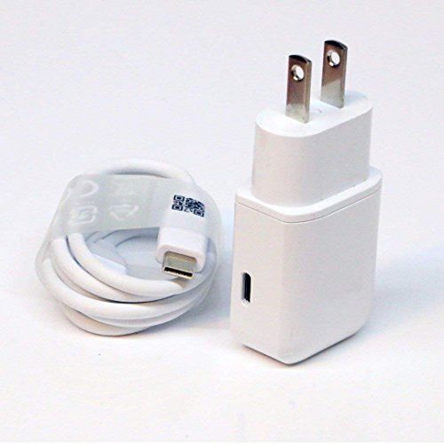 OEM Professional Kit for Samsung Galaxy Tab A (2018) Quick Charge 3.0 Adaptive Fast Wall Charger Includes 2 Cables for USB-C and - 3 Sprint Tab Charger Galaxy