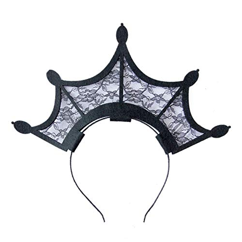 Diy Halloween Headpieces (3GARDEN Gothic Queen Crown Headband Lace Hair Hoop Headwear Hair)
