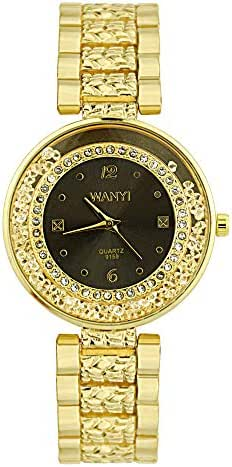 AmazingDays Women's Quartz Stainless Steel Watch Diamond Bracelet Watch Analog Movement Wrist Watch