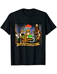 A Friend in Need Poker Dogs T-Shirt, Poker Dogs T-Shirt