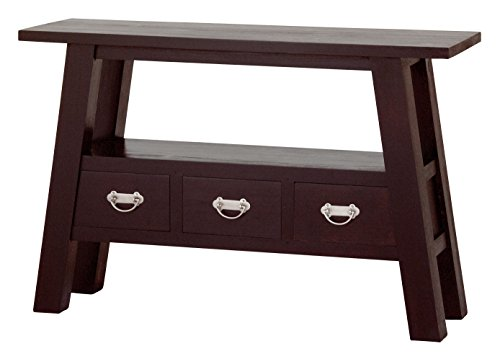 - NES Furniture NES Fine Handcrafted Furniture Solid Mahogany Wood Japanese Side Table - 45