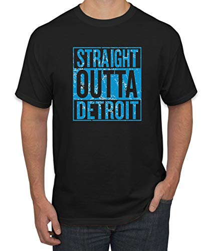 Wild Bobby Straight Outta Detroit DET Fan | Fantasy Football | Mens Sports Graphic T-Shirt, Black, 5XL