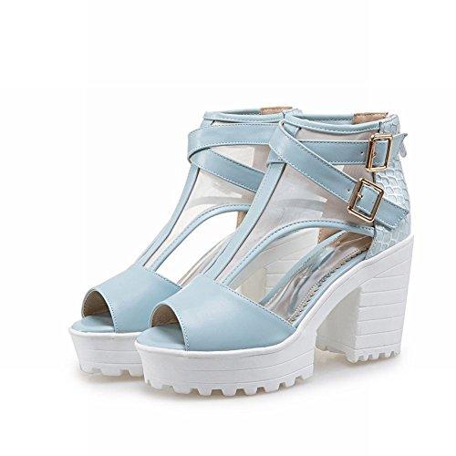 Mee Shoes Damen chunky heels Plateau Mesh Sandalen