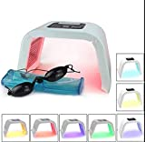 Facial Mask Spa - Zinnor 7 Colors Skin Care Machine LED Photon Light Therapy PDT Lamp Beauty Machine Treatment Skin Regeneration Tighten Facial Acne Remover Anti-wrinkle Spa