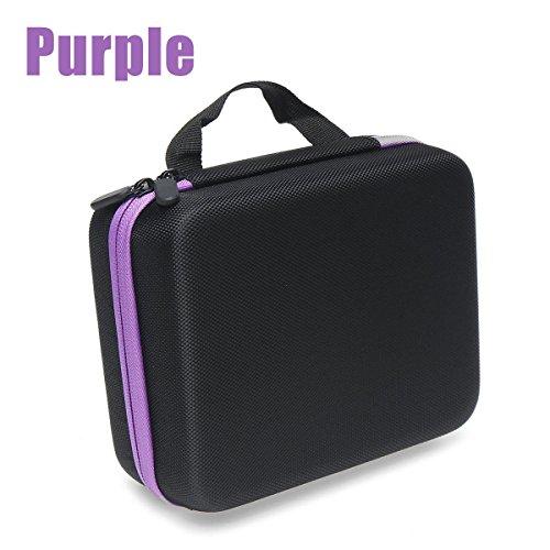 30 Bottles 5/10/15ml Essential Oil Sorage Bag Travel Case Holder Storage Aromatherapy Box - Hardware & Accessories Storage & Organization - (Purple) - 1 x Essential Oil Storage Case by Unknown