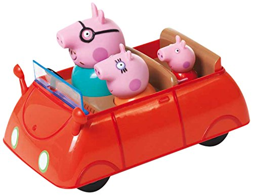 Peppa Pig - 4902 - Figurine Animation - Peppa - Voiture Push Et Go avec 3 personnages