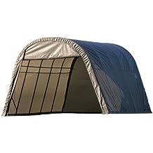 ShelterLogic 74332 Grey 12-Feet x 24-Feet x 10-Feet Round Style Shelter