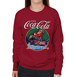Coca Cola Holidays are Coming Truck Women's Sweatshirt