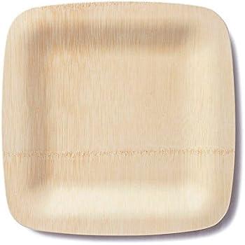 BAMBU \u2013 9\u201d Bamboo Veneerware Square Disposable Plates Package of 25 \u2013 Compostable \u0026 & Amazon.com: BAMBU \u2013 7\u201d Bamboo Veneerware Square Disposable Plates ...