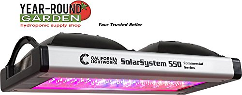 California Lightworks Solar System 550 LED Grow Light Fixture 400 watts Programmable Spectrum LED Commercial Lighting System Veg Bloom