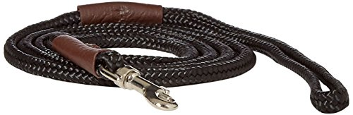 Mendota British Show Snap Leash, Black, 1/8
