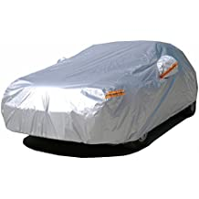 "Kayme Waterproof All Weather Car Covers Sunproof Light Strong Poloyester For Automobiles Outdoor Hyundai Tiburon Mazda Rx7 Corvette C4 Vw Jetta Bmw Z4 3M (161""-173"" L) For Sedan"