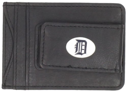 Siskiyou MLB Detroit Tigers Leather Cash and Card Holder (Detroit Tigers Money Clip)