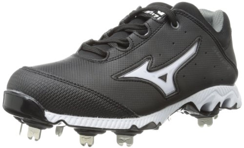 Mizuno Women's 9-Spike Swift 3 Switch Softball Cleat,Black/White,10.5 M US by Mizuno