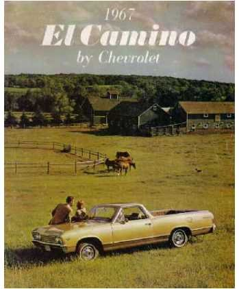1967 CHEVROLET EL CAMINO Sales Brochure Literature ()