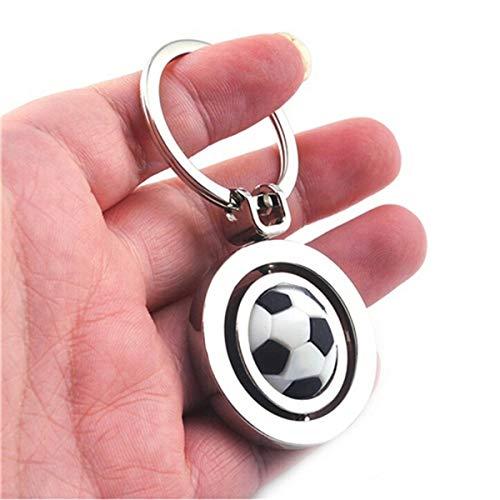 IMIKE Metal Keychain Fashion Cute Rotating Soccer Football Sports Keyring Key ()