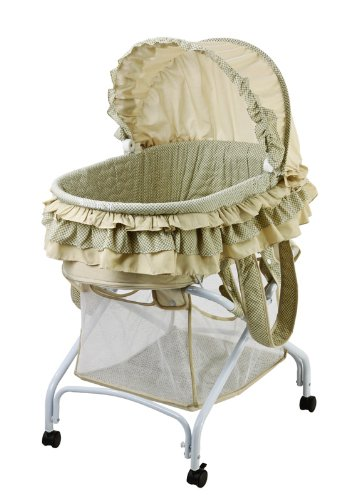 Dream On Me, Layla 2 in 1 Bassinet To Cradle, Green 440-G