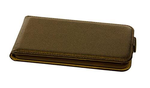 handy-point Flexible Flip Case Klapptasche Klapphülle Tasche Hülle Schale Schutzhülle flexi Schutztasche Flipcase mit flexibler Gummischale mit Fach für EC-Karte Kartenfach für iPhone 6 6S, Braun