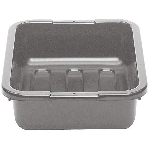 Cambro 1520CBP180 20'' x 15'' x 5'' Light Gray Polyethylene Plastic Bus Box with Flat Bottom