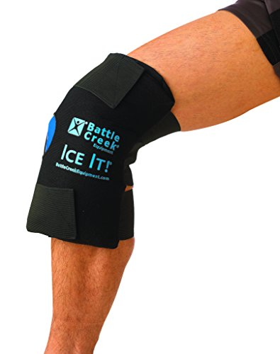"""Cold & Hot Therapy System Ice Pack Knee Wrap - Ice It!® MaxCOMFORT™ (Knee Design; 12"""" x 13"""") – ()"""