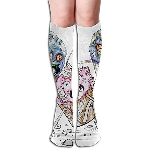 Women Socks Mid-Calf Cool Cupcake Drawings Winter Warmth