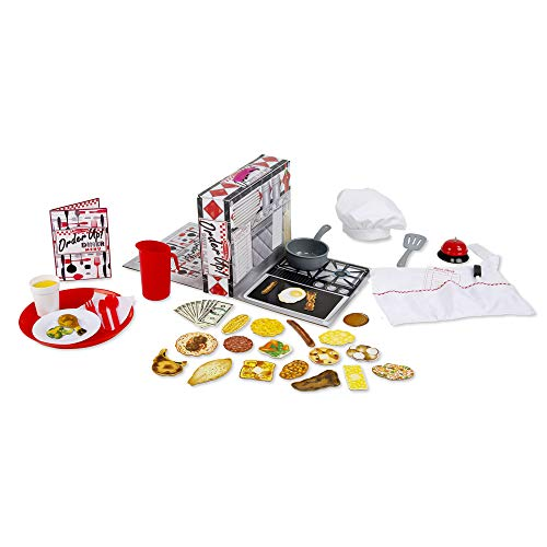 Melissa & Doug Order Up! Diner Play Set With Play Food (53 Pieces, Great Gift for Girls and Boys - Best for 4, 5, 6, 7 and 8 Year Olds) (The Best Thirst Quencher)