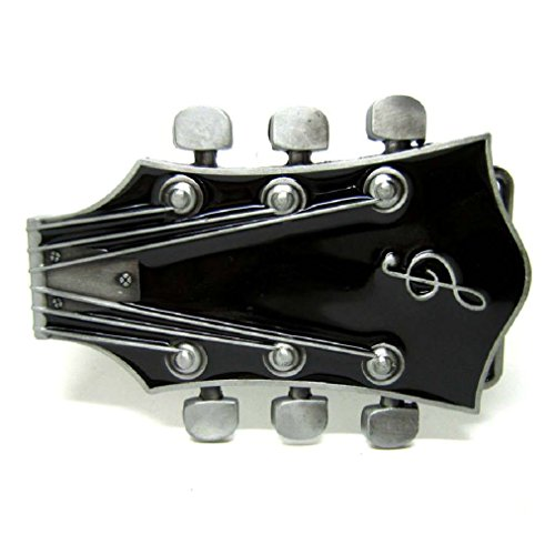 Electric Guitar Music Strings Belt Buckle Rock Roll Acoustic Musician Group Band