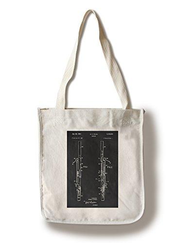 Lantern Press Blackboard Patent - Bassoon (100% Cotton Tote Bag - ()