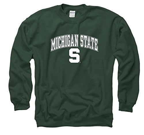 - Michigan State Spartans Adult Arch & Logo Gameday Crewneck Sweatshirt - Green