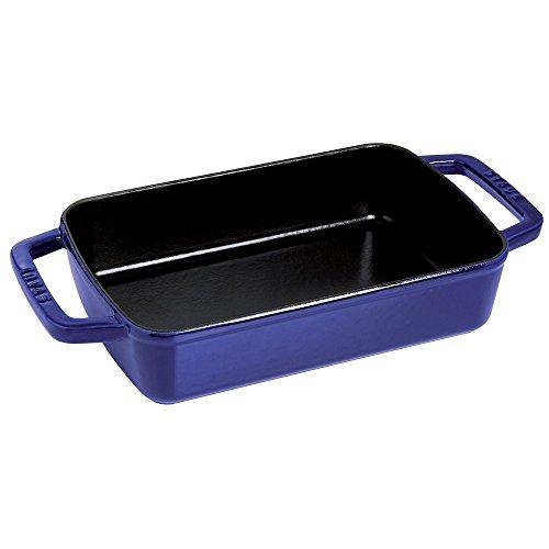 "Staub Cast Iron 15"" x 10"" Roasting Pan - Dark Blue"