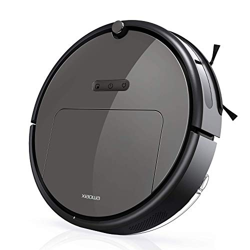 Roborock E25 Robot Vacuum Cleaner Sweeping and Mopping Robotic Vacuum Cleaning Dust and Pet Hair, 1800Pa Strong Suction and App Control, Route Planning on Hard Floor, Carpet and All Floor Types from Roborock