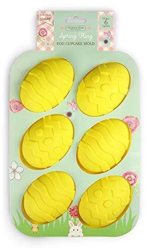 (Handstand Kitchen Spring Fling Silicone Easter Egg Shaped Cupcake Mold)