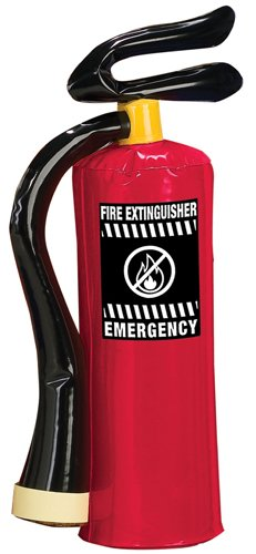red INFLATABLE FIREMAN fire EXTINQUISHER kids prop halloween costume -