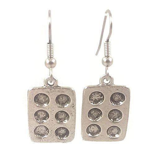 Price comparison product image Surgical Steel Dangle Earrings Muffin Tin