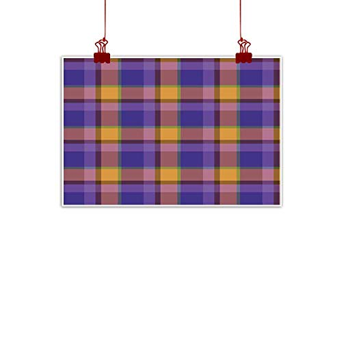 duommhome Living Room Decorative Painting Plaid Pattern Illustration