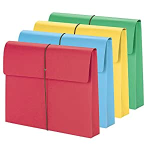 """Smead Expanding Wallet, 2"""" Expansion, Flap and Cord Closure, Letter Size, Assorted Colors, 50 per Box (77251)"""