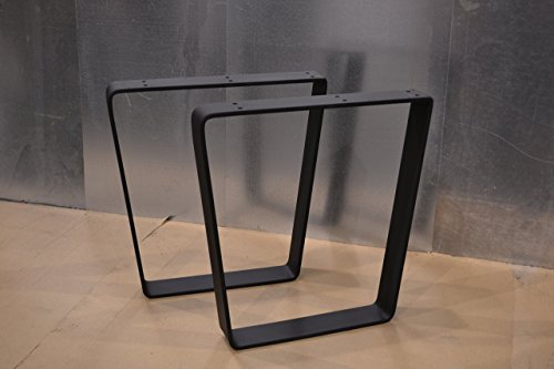 Metal Table Legs, Bent Trapezoid Style - Any Size and Color! by Custom Table Legs