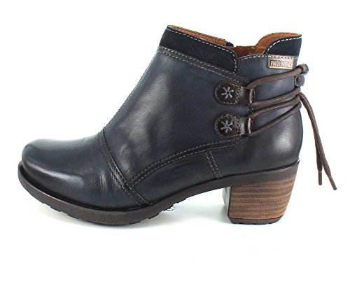 Pikolinos Womens 838-8696 Le Mans Leather Boots Blue