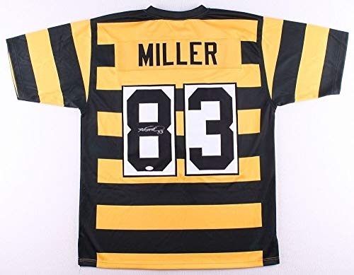 Heath Miller Autographed Signed Autograph Pittsburgh Steelers Bumble Bee Throwback Jersey JSA Authentic Certificate