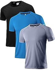 Holure Heren Sportkleding Ademend Sneldrogend T-shirt met korte mouwen