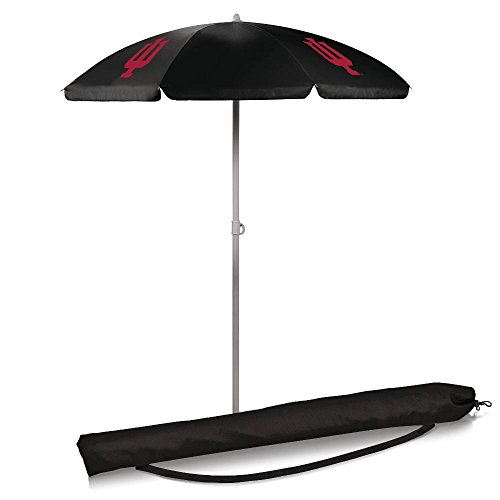 Ncaa Patio Cooler (NCAA Indiana University Hoosiers Digital Print Umbrella, Black, One Size)