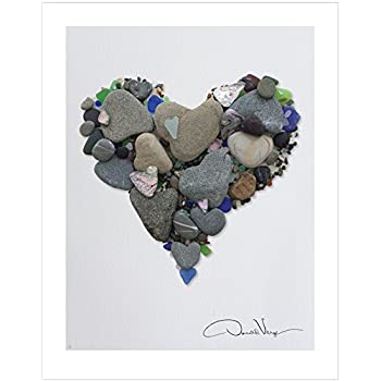 Amazon.com: Donald Verger LOVE- Heart Stones & Sea Glass Heart ...