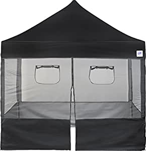 E-Z UP Food Booth Sidewall Package, 10 by 10', Black