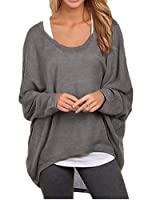 ZANZEA Women's Sexy Long Batwing Sleeve Loose Pullover Casual Top Blouse T-Shirt