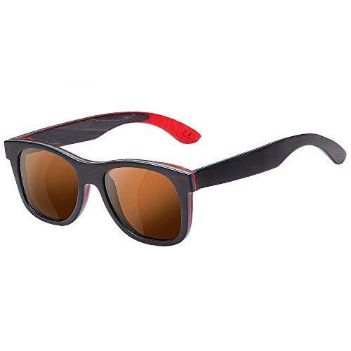 De Frame Gafas Classic Polarizadas Retro Yxsd Sunglassesman Full color Unisex Eyewear Sol Brown Black qgEx8