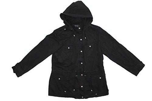 (Buffalo David Bitton Anorak Jacket for Women (L, Black))